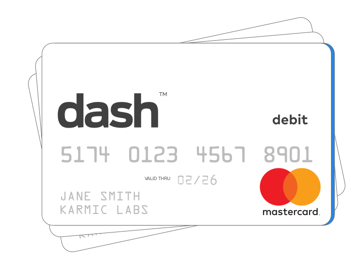 Image of the dash™ Prepaid Mastercard®