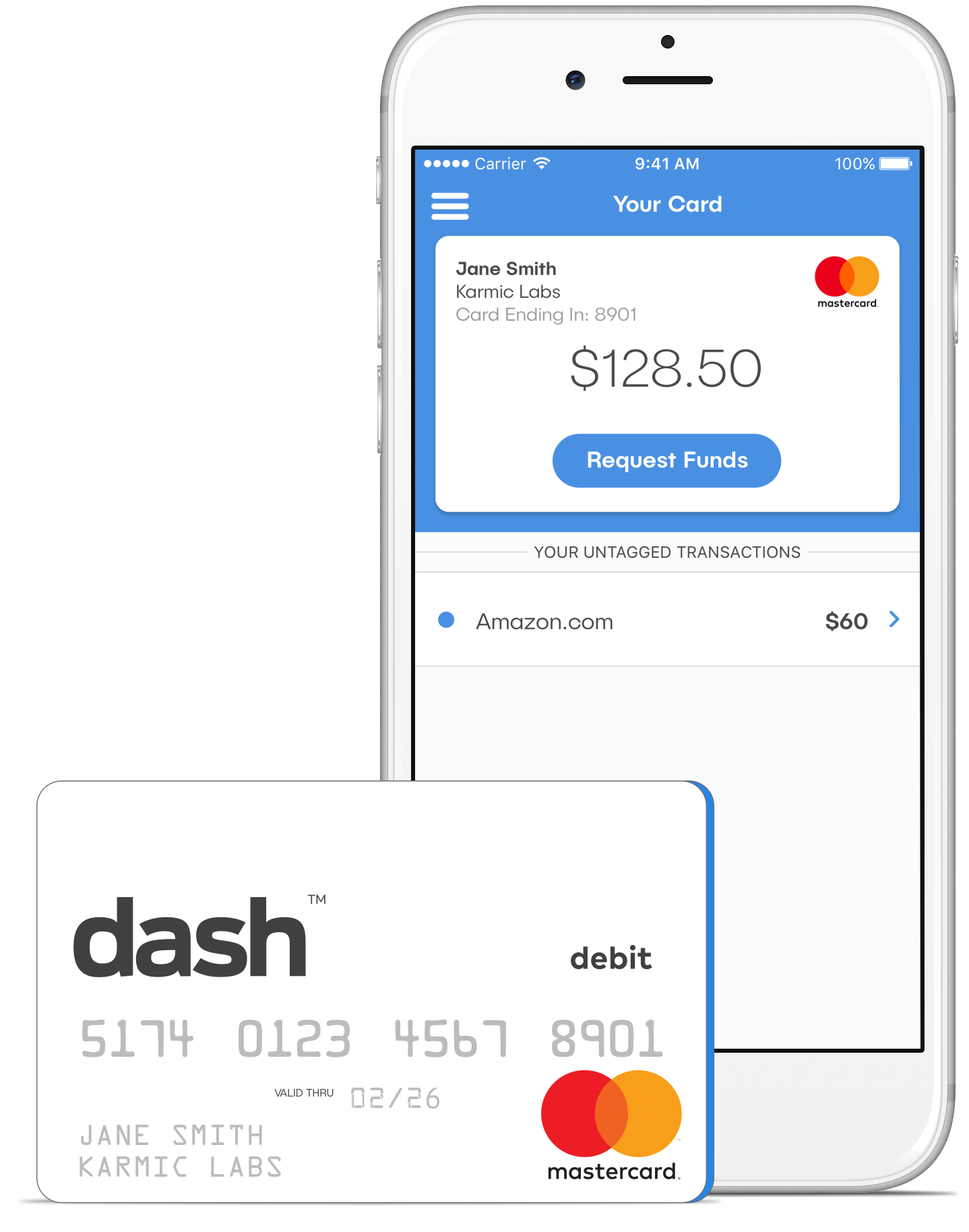 dash™ Prepaid Mastercard Expense Management No Hassles